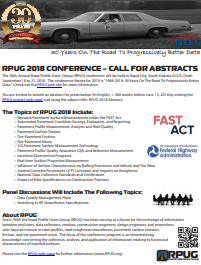 You are invited to submit an abstract for presentation at RPUG 2018